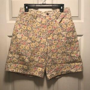 Vintage Limited Floral Jean Shorts Size Medium